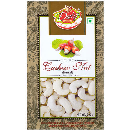 Natural Cashew Nut, Packaging Size: 250 Gm