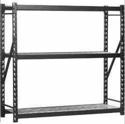 A. S. Steel Grey Two Tire Storage Rack