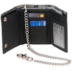 custom brand Custom Material Leather Chain Wallet