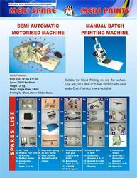 Batch Printing Machine Spare Parts
