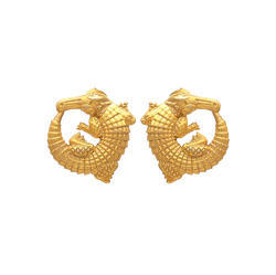 Beautiful Dragon Earring Stud Micron Gold Plated Womens Jewelry Stud