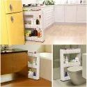 Parasnath 3 Tier Kitchen Storage Organiser Rack Holder with Wheels
