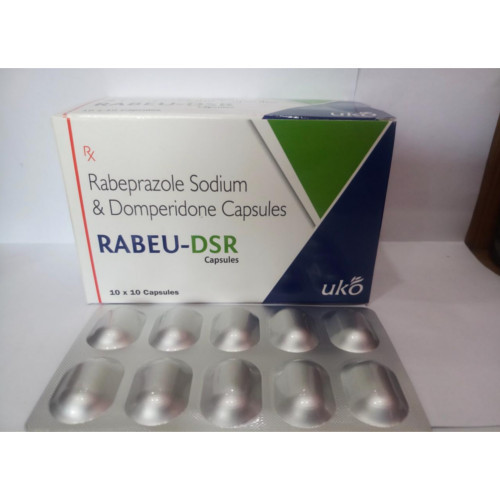 Rabeu-DSR Capsule Rabeprazole Sodium and Domperidone Capsules, 10x10 Capsules ,Packaging Type: Alu-Alu