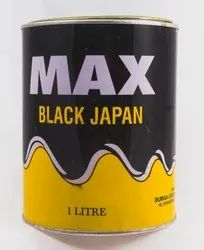 MAX High Gloss Black Japan Decorative Paint, Packaging Type: Can
