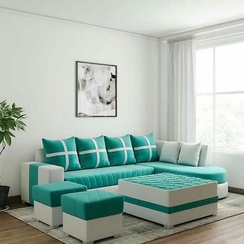 Sky Blue And White Modern Designer Sofa Set Rs 6000 Seat Indian Furnishing Id 21027144755