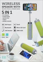 Bluetooth Speaker with Selfie Stick