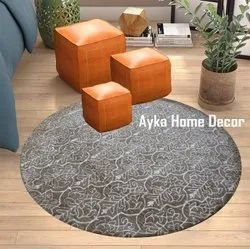 For Home Multicolor USA Combination Silk Touch Carpets Round 8 x 8 feet