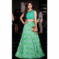 Ladies Bhagalpuri Silk Printed Designer Lehenga Choli, Size: M-XXL