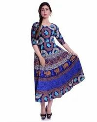Fancy Jaipuri Printed Frock