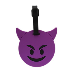Luggage Tag Smiley Devil Emoji - Purple (6LNT37)