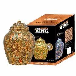 10 Ltr Mr. Copper King Printed Copper Pot