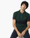 Colour Block Polo T-shirt