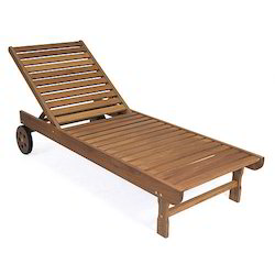 Wicker Hub Wooden Deck Chairs, Size: 78 x 26 x 14 inch