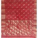 Red Tant Banarasi Silk Saree