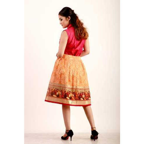 best offer shop for best Ladies Banarasi Shirt And Printed Skirt