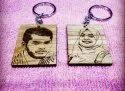 Personalized Engraved Photo Keychain