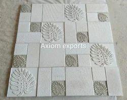 White Sandstone Designer Mosaic Tile For Wall Cladding