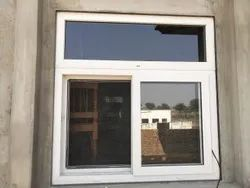 White Residential UPVC Sliding Window With Mosquito Net, Thickness Of Glass: 5 Mm Toughened