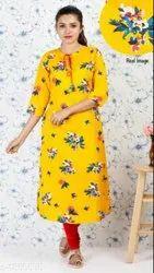 Casual Wear Regular Floral Printed Kurtis