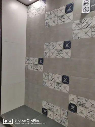 Matt Ceramic Bathroom Wall Tiles Thickness 2 5 Mm Rs 50 Square Feet Id 21080933388
