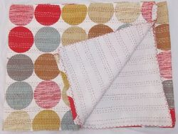 Polka Dot Kantha Quilts Reversible Kantha Work