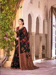 Pure Linen Silk Jamdani Saree