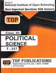 Nios Help Books - Nios Class 12th Political Science (317) Guide Book in English Medium