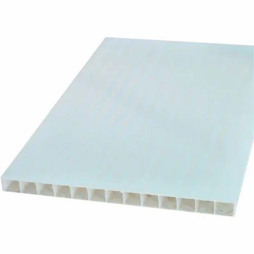 Corrugated Plastic White Sheet Plastic Corrugated Sheet