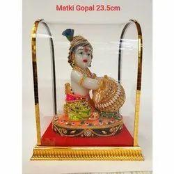 Fiber Matki Gopal Statue, 23.5 cm