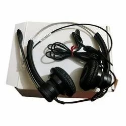 Over The Head Wired Call Center Headphone, Weight: 100- 150g