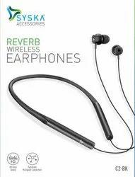 Na Syska C2 Reverb Bluetooth Headset with Mic, 10 M