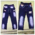 Faded Kids Party Wear Denim Jeans