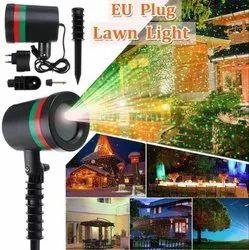LED Plastic Wemake Star Shower EU Plug Lawn Light