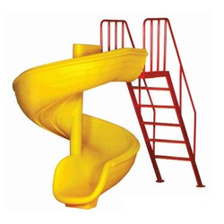 Yellow Kids Spiral Slide