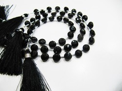 High Quality Natural Faceted Black Spinel Beads/ 6-7 Mm