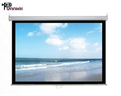 Punnkk 10x8 Pull Down Manual Projector Screen 150 inches