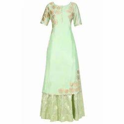 Light Green Ladies Designer Mint Green Suit
