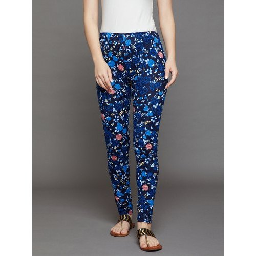 e8672a597799d Ladies Legging - Blue Floral Ladies Leggings Manufacturer from Chennai