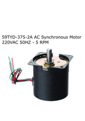 59TYD-375-2A AC Synchronous Motor 220VAC 50HZ - 5 RPM
