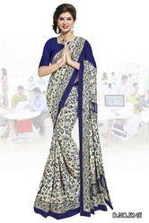Printed Cotton Uniform Saree
