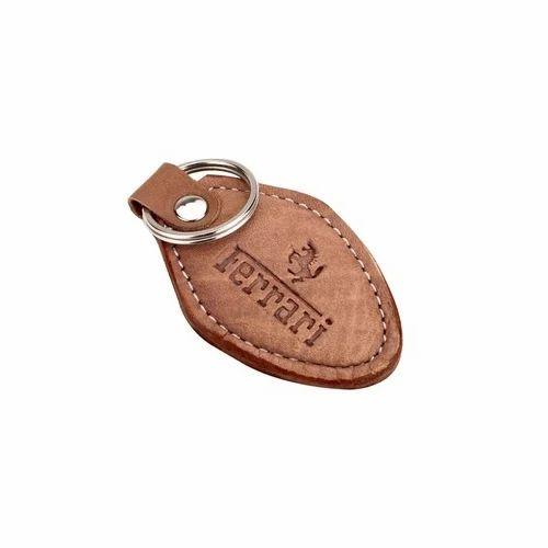 Leather Ferrari Key Ring