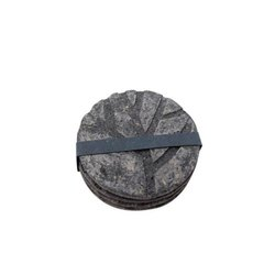 Handmade Dark Grey Paper Mache Coasters