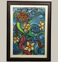 The Mermaid With Daffodils Paintings