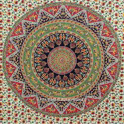 Maa Ambey Multicolor Fabric Tapestry Wall Hanging, For Home Decor, Gifting
