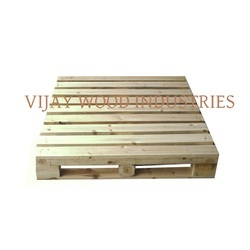 2 Way Or 4 Ways Can Be Made Rectangular Fumigated Wooden Pallet, For Packaging, Capacity: 500 To 900 Kg