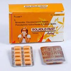 Nimesulide Chlorpheniramine Maleate Caffeine Tablets