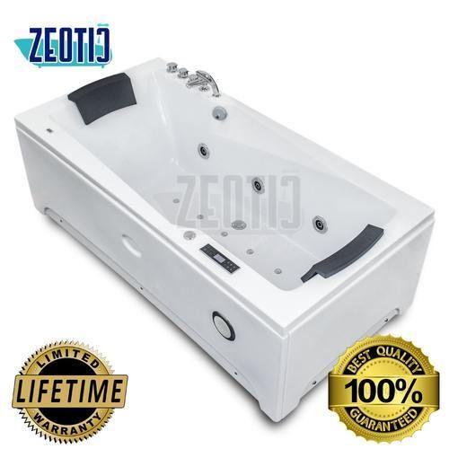 White Zeotic India Lanzo Acrylic Hydromassage bathtub, Shape: Rectangular
