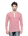 Striped Henley Neck T-Shirt for Men