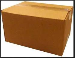 Rectangular 12 Kg Brown Plain Corrugated Carton Box