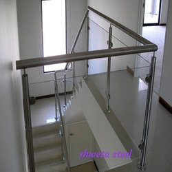 satenes steel SS Frame Less Glass Railing